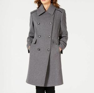 Vince Camuto Grey Double-Breasted Pea Coat, S